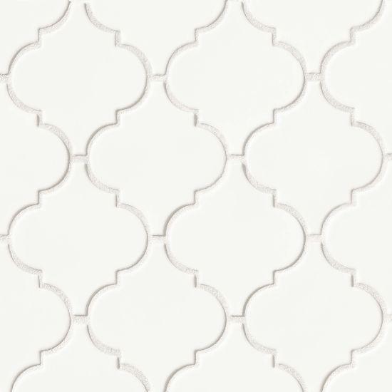 Costa Allegra White Sand Arabesque Matte Ceramic  Mosaic (Discontinued)