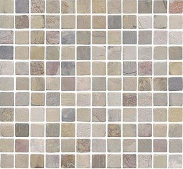 Slate Indian Autumn 1x1 Square Honed   Mosaic