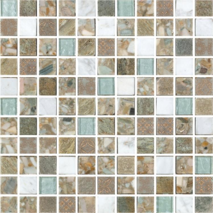 Milano Selene Summer Square  Glass  Mosaic