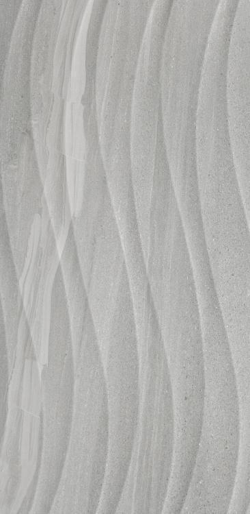 Sand Stone Flow Deco Dark Grey Glazed 12x24 Porcelain  Tile