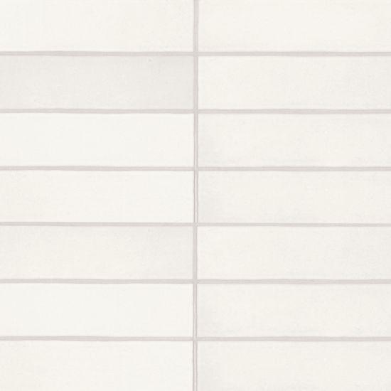 Makoto Shoji White Matte 2.5x10 Ceramic  Tile