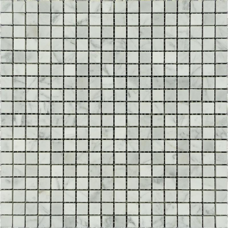 Marble White Carrara 0.63x0.63 Square Polished   Mosaic