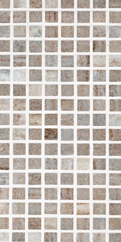 Sto Re Ocean White 5/8x5/8 Mini Square Polished Natural Stone  Mosaic