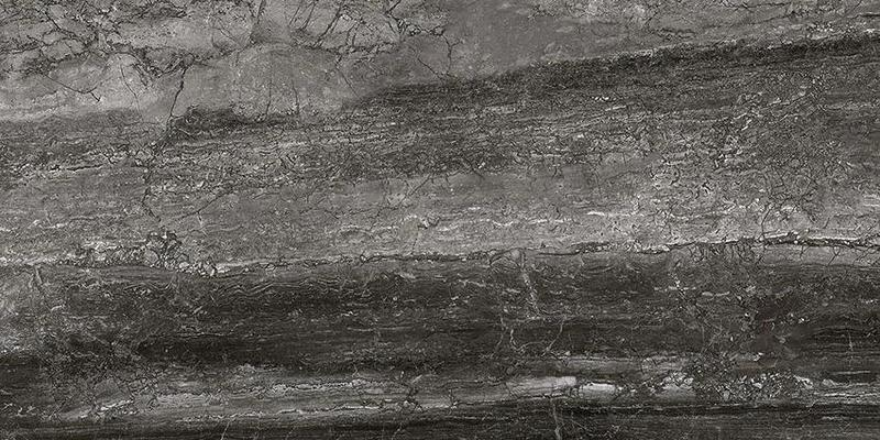 Luxury Black Lappato, Glazed 18x36 Porcelain  Tile