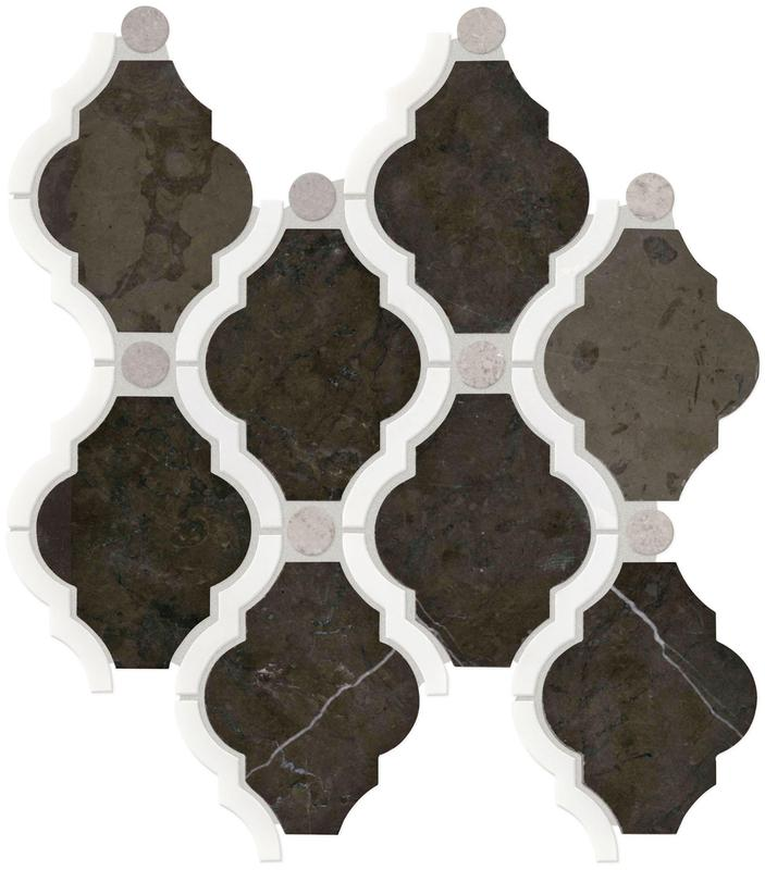 Stone Decorative Accents Antico Scur Bln Framed Polished, Baroque, Mixed, Mosaic