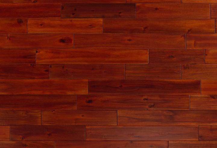 Engineered Selections Exotic Mahogany 4.75xfree length, Hand-Scraped, Dark Brown, Acacia, Engineered-Wood, (Discontinued)