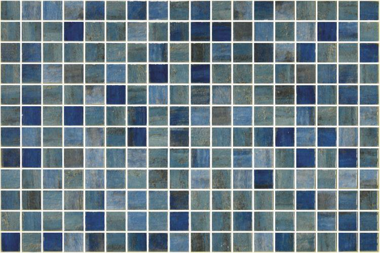 Onix From Spain Vanguard Forest Blue 1x1 Square Polished Glass  Mosaic