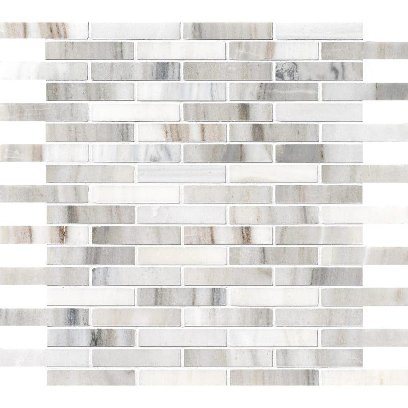 Skyline 0.62x3 Staggered Joint Polished Marble  Mosaic