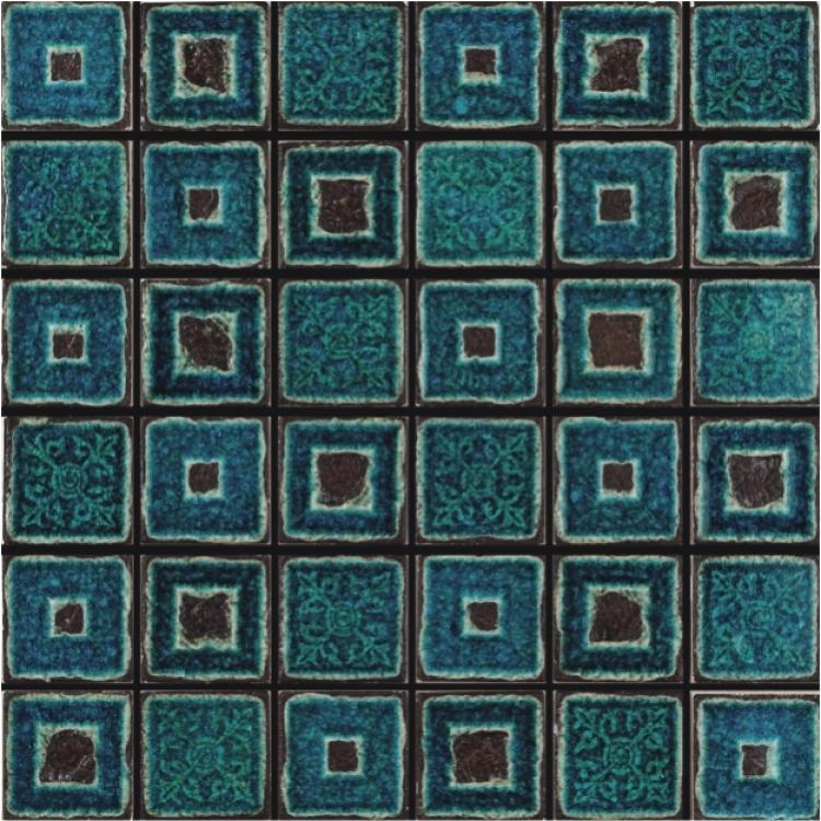 Jewel Janus Blue 2x2 Square  Glass  Mosaic