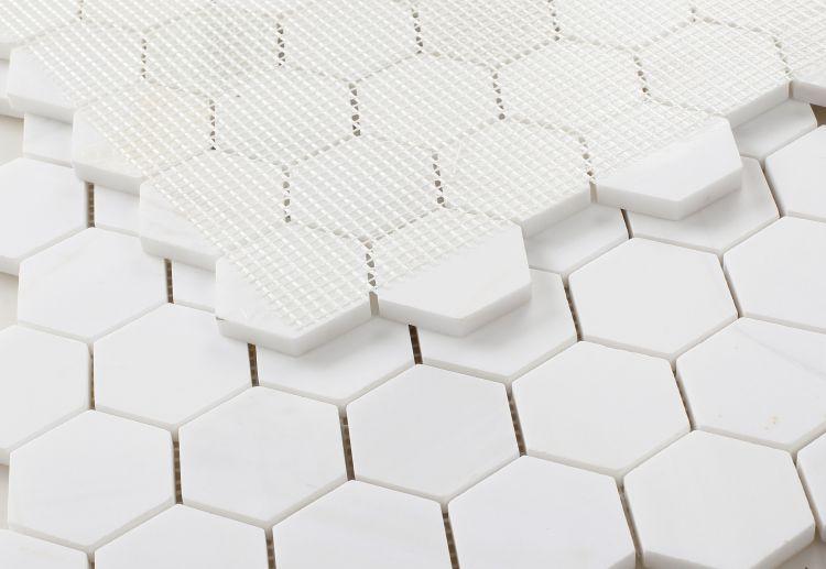 Hexagon Dolomite 2x3  Honed Marble  Mosaic