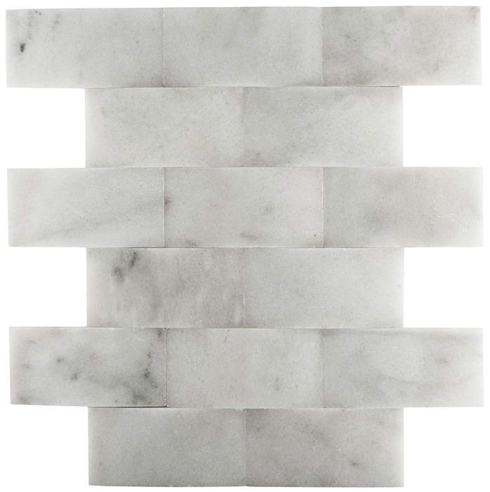 Marble White Carrara 2x4 Wavy Polished   Mosaic