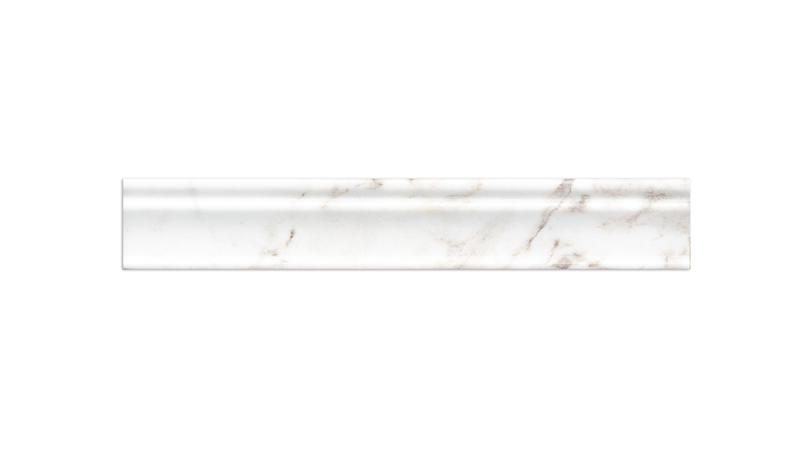 Glorious White Marble Trim 2x12 Polished   0.69 in Chair Rail