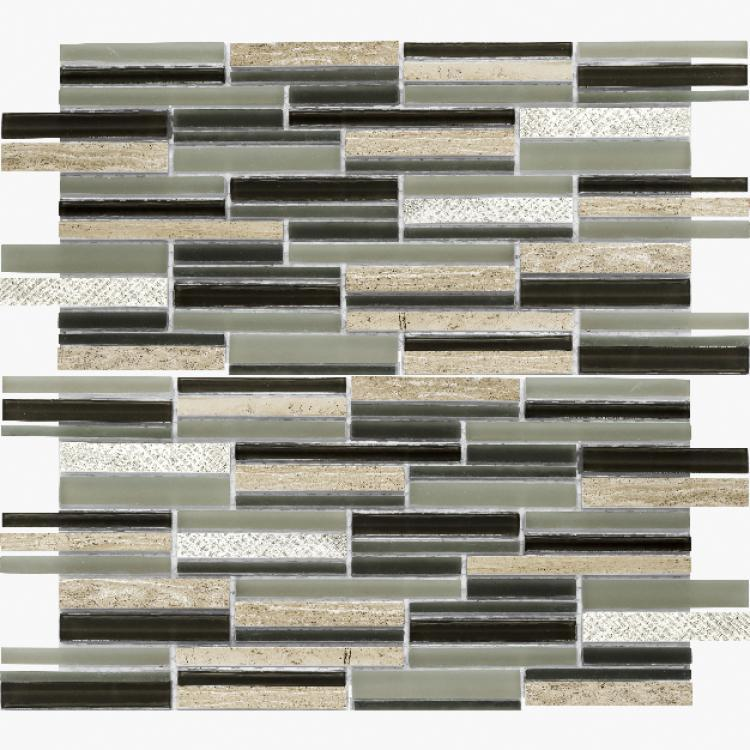 Linear Glass Inga Grey Mosaic