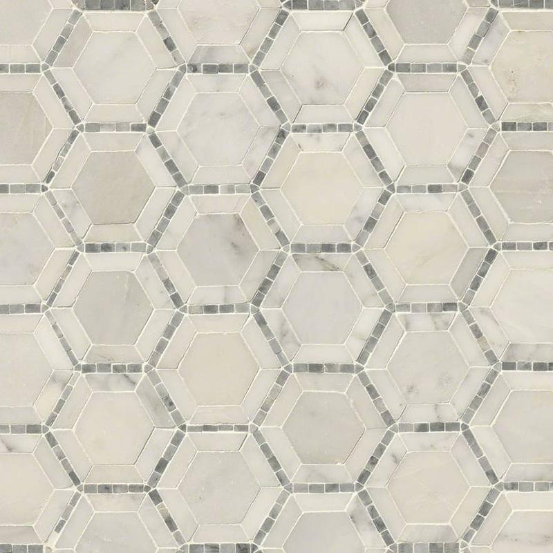 Backsplash Wall Tile Decorative Mosaics Telaio Pattern 2 in, Honed, Geometric, Marble, Mosaic