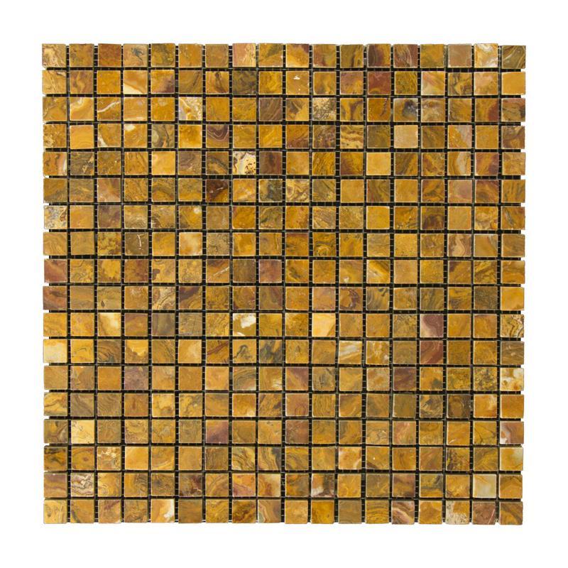 Onyx Multi Brown 0.63x0.63 Square Polished   Mosaic