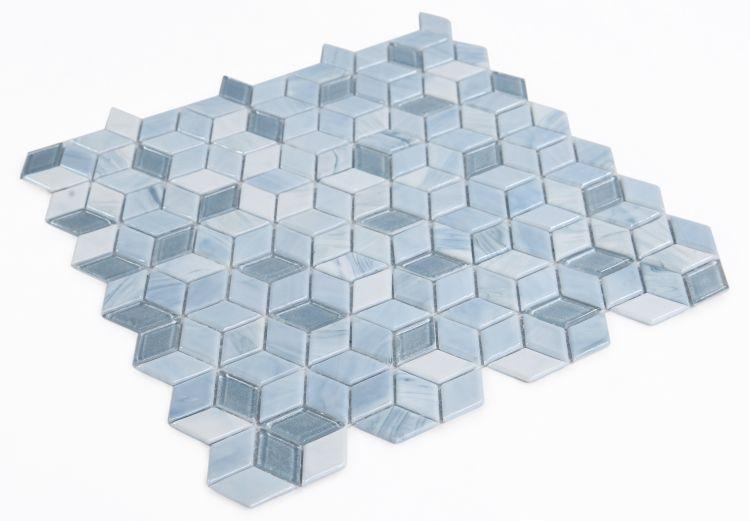 Hot Cube Sky Cubic  Glass  Mosaic