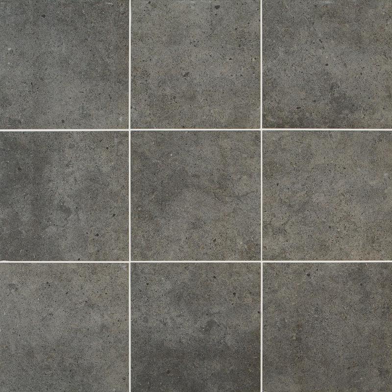 Industrial Park Charcoal Black Gris Anthracite 12x12, Matte, Gray, Square, Color-Body-Porcelain, Tile