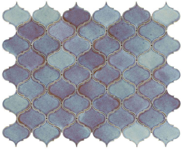 Calabash Powder Blue Arabesque  Porcelain  Mosaic