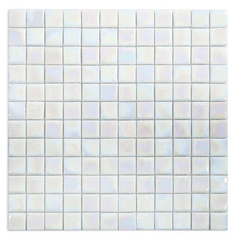 Laguna White 1x1 Square  Glass  Mosaic