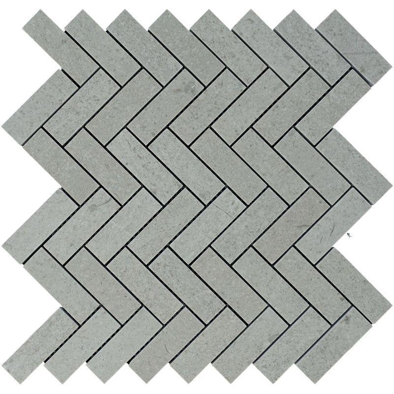 Marble Spanish Grey 1x3 Herringbone Polished   Mosaic