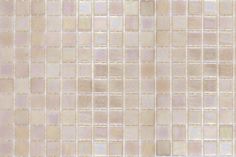 Onix Opalescent Beige 1x1 Square  Glass  Mosaic