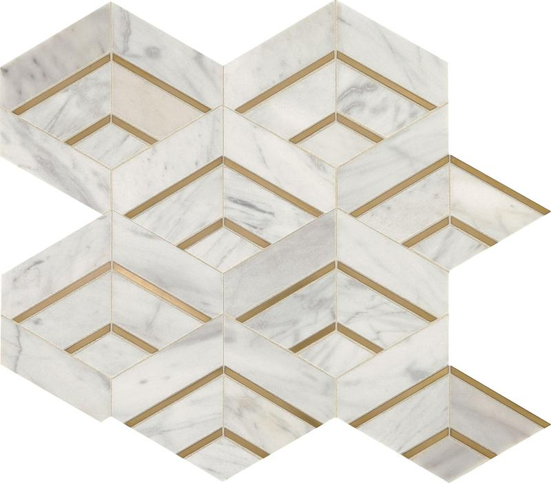 Lavaliere Alluring White Brass Matte, Intermix, Natural-Stone, Mosaic