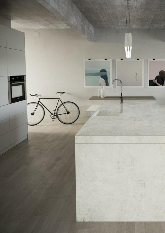 Group 2 Industrial Tiles Lunar Suggested Size 56x62, Smooth-Matte, White, Porcelain, Tile