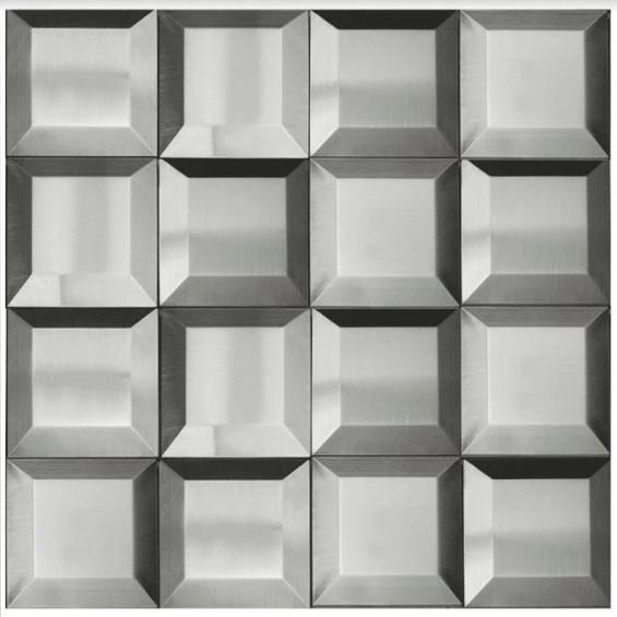 Stainless Steel Mosaics Pavo Hb Ygs052-2 3x3  Polished   Mosaic (Discontinued)