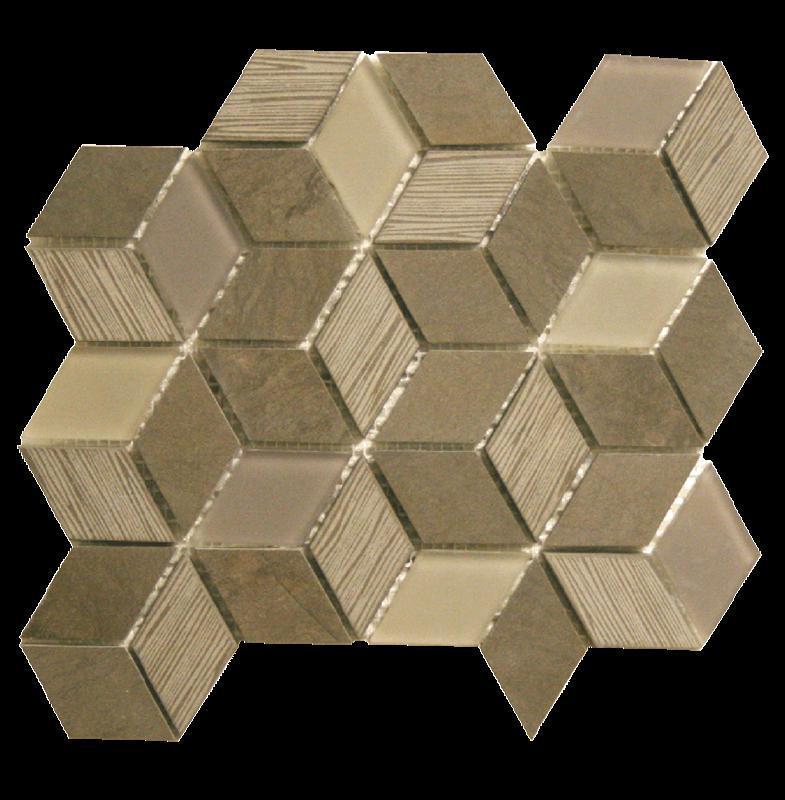 Bennelong Point Cube Grey Foussana Honed, Mixed, Mosaic