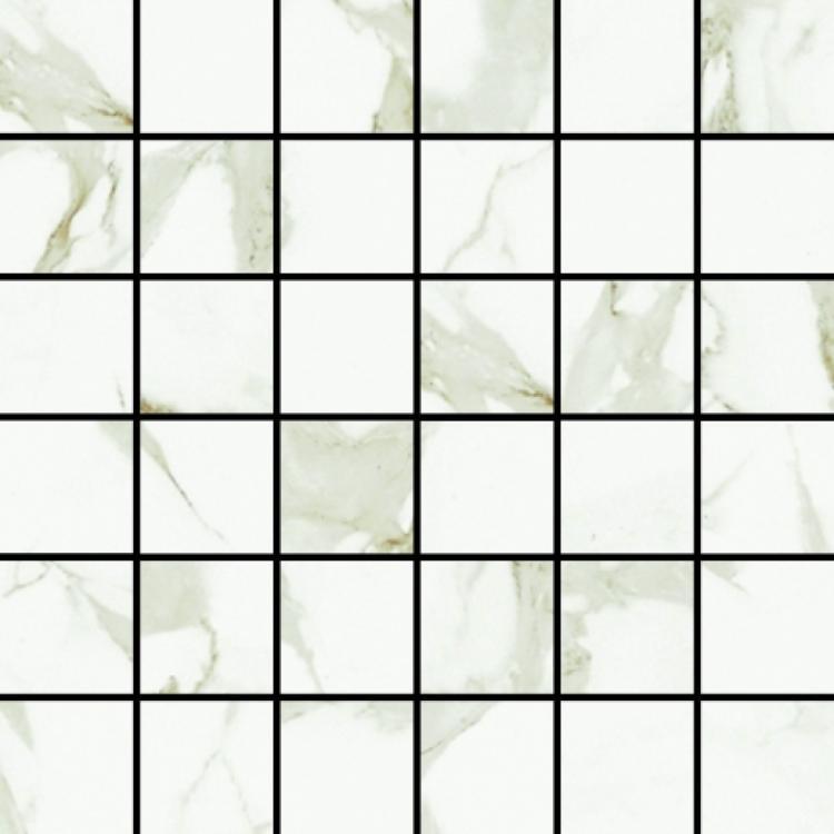 Carrara Art 2x2 Square  Ceramic  Mosaic