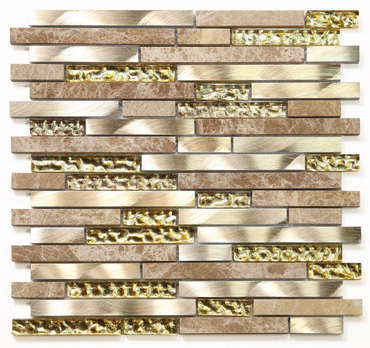 Metal Ceres Gold Linear    Mosaic