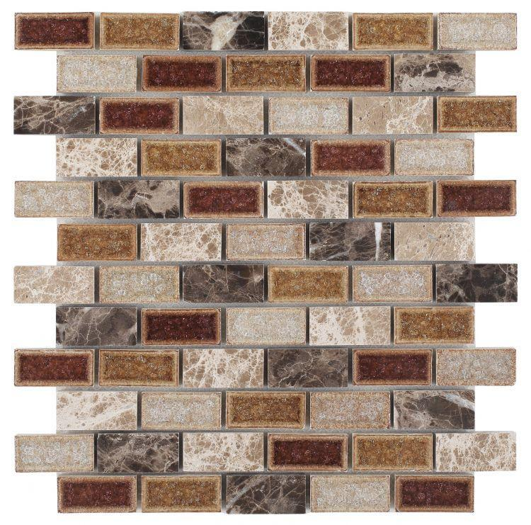 Jewel Princess Brick  Glass  Mosaic