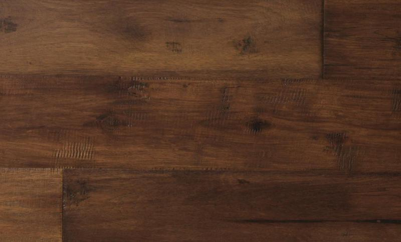 Mesa Hickory Collection Rustic Oak 7.5xfree length, Hand-Scraped, Brown, Engineered-Wood