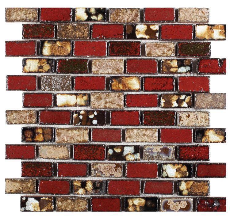 Roman Tropical 1x2 Stack  Porcelain  Mosaic