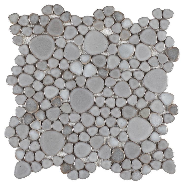 Growing Grey Pebble  Porcelain  Mosaic