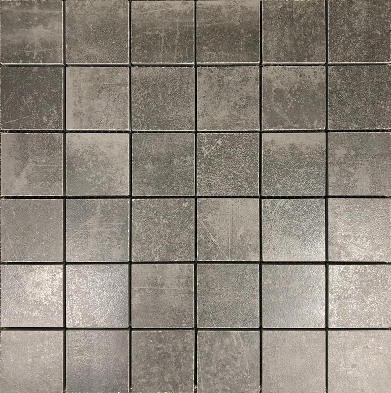 Shine Anthracite Dark Grey 2x2 Square Matte Porcelain  Mosaic