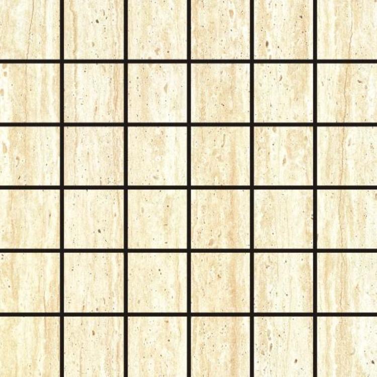 Travertine Cream 2x2 Square Glazed Ceramic  Mosaic
