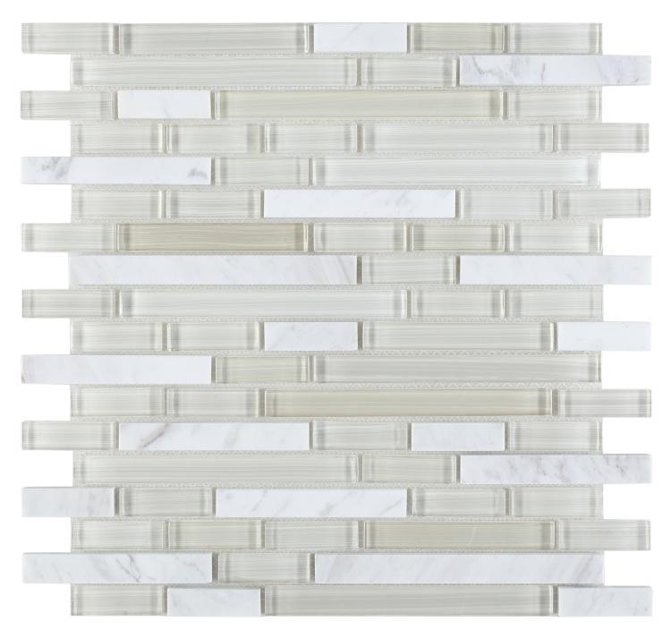 Linear Glass Sea Salt Stack    Mosaic