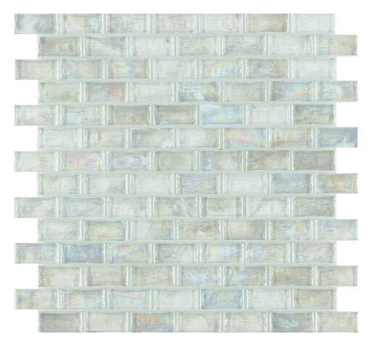 Malibu Clear Brick  Glass  Mosaic