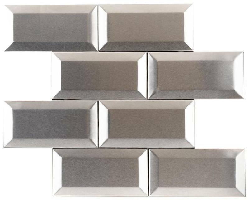 Stainless Steel Mosaics Pavo Hb Ygs052-1 3x6  Polished   Mosaic (Discontinued)