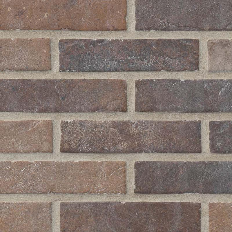 Porcelain Tiles Brickstone Red 2x10, Matte, Orange, Tile