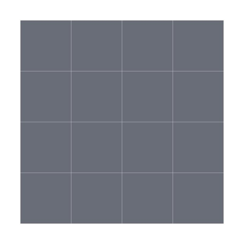 Natural Hues Steel Dot Mounted 3x3 Square Matte Ceramic  Mosaic (Special Order)