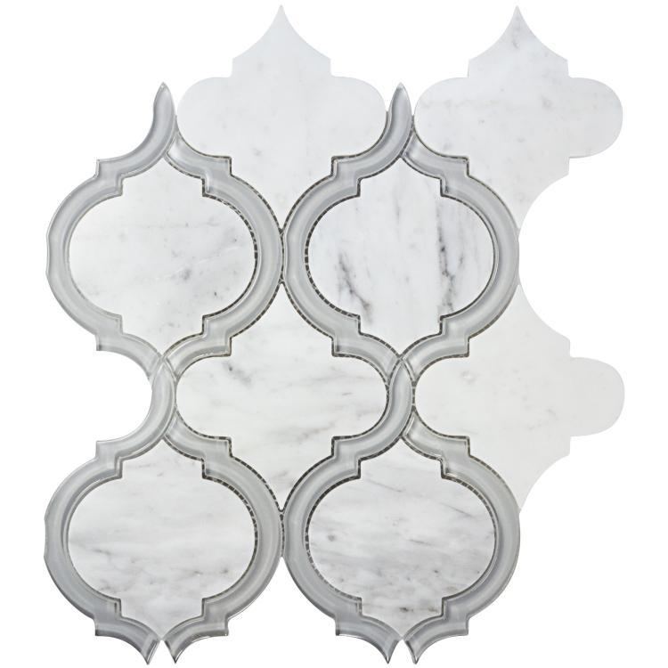 Alice City Arabesque Glossy Glass  Mosaic
