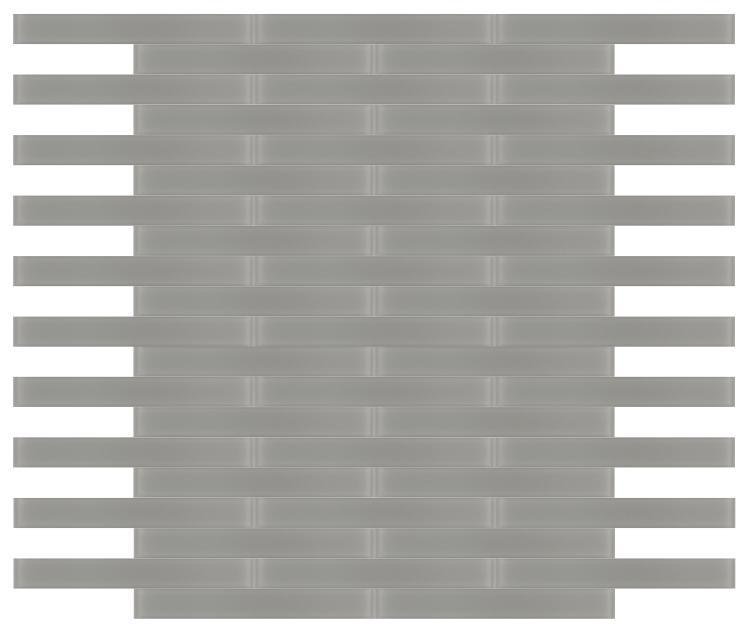 Large Glass Tile Mia Grey Frosted Subway Matte   Mosaic