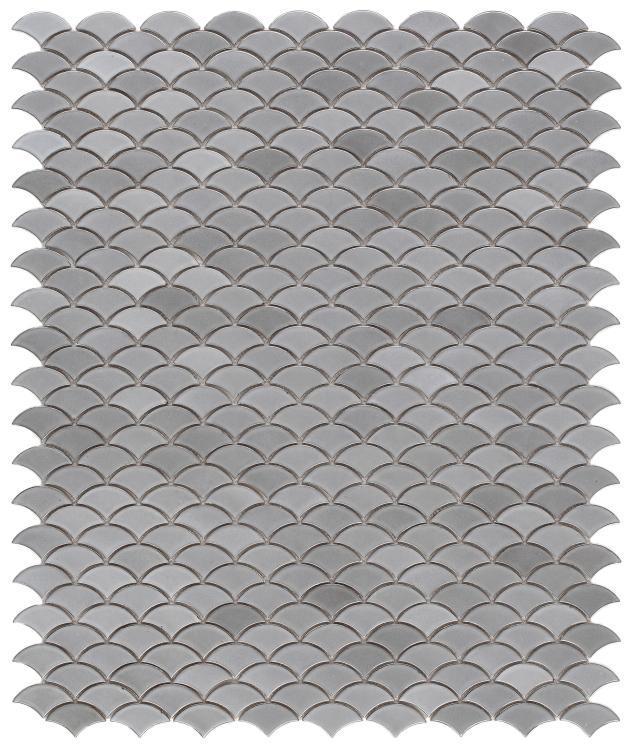 Dragon Scale Grey Porcelain  Mosaic