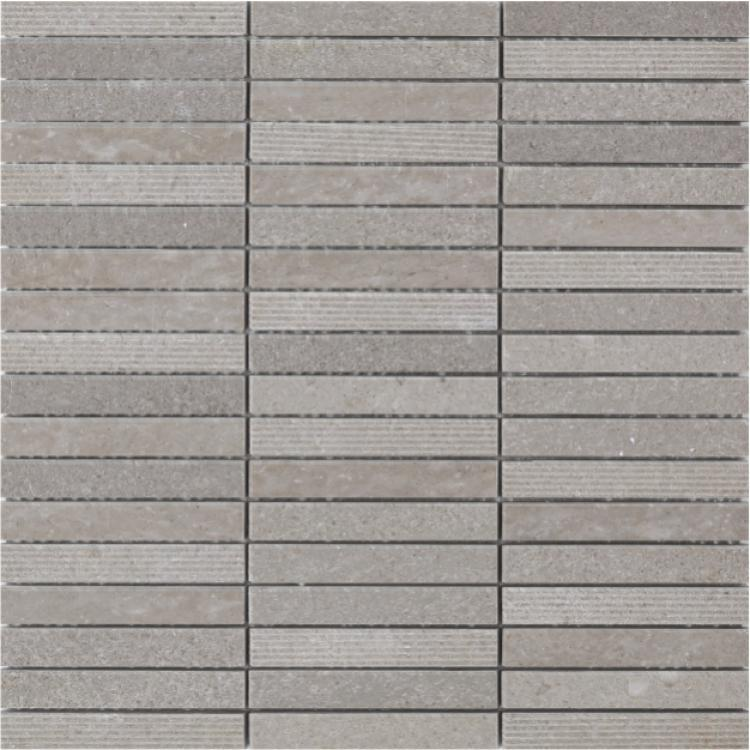 Precious Stone Slot Grey 3/8x4 Linear Honed Marble  Mosaic