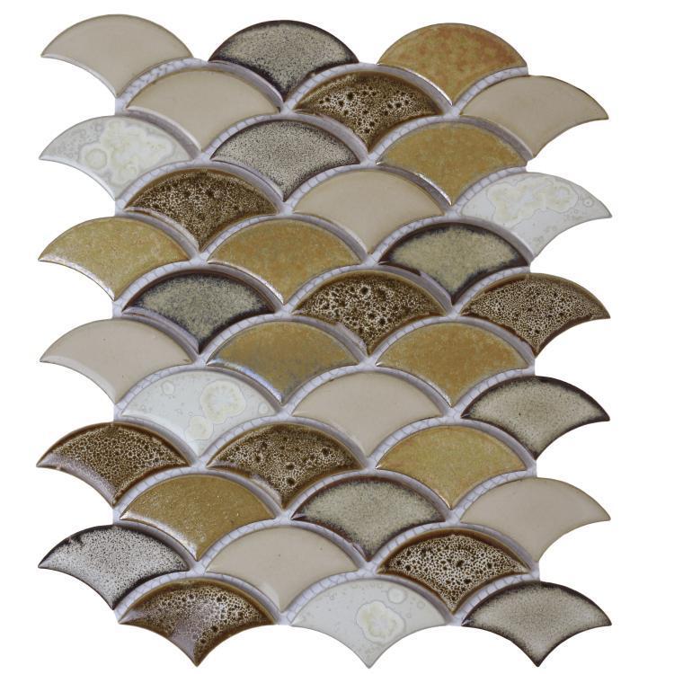 Dragon Scale Spring Porcelain  Mosaic