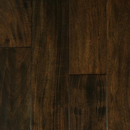 Melbourne Collection Black Walnut 4.75xfree length, Hand-Scraped, Small-Leaf-Acacia, Engineered-Wood