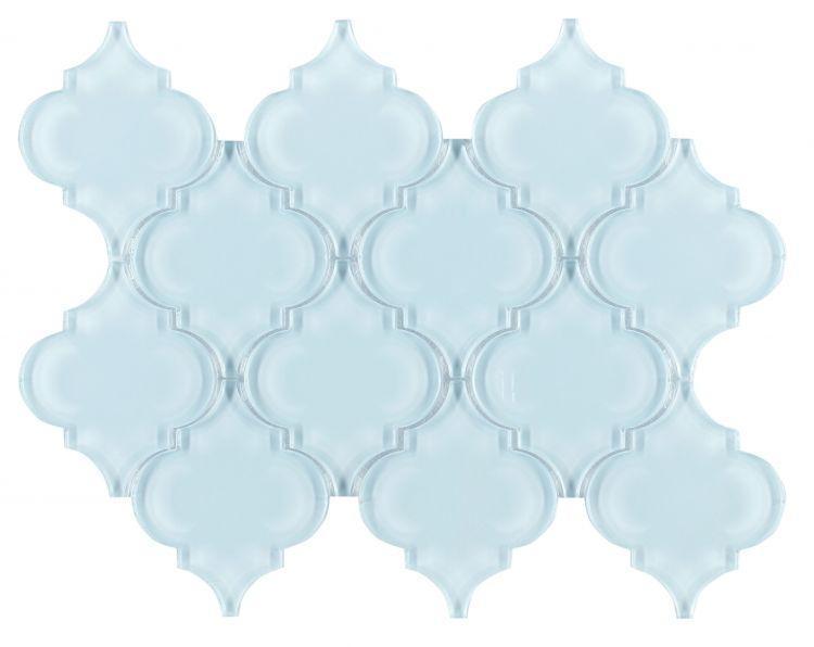 Arabesque Aladdin Ocean Shining Glossy Glass  Mosaic