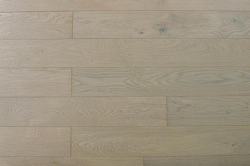 Jubilee Mocha 5xfree length, Wire-Brushed, White, White-Oak, Solid-Hardwood, Wood